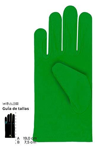 DISBACANAL Guantes Colores Cortos Infantil - Verde