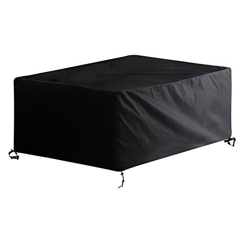 Awnic copertura tavolo da giardino telo copri tavolo sedie 6 a 8 posti resistente allo strappo impermeabile 210d oxford 210x120x80cm