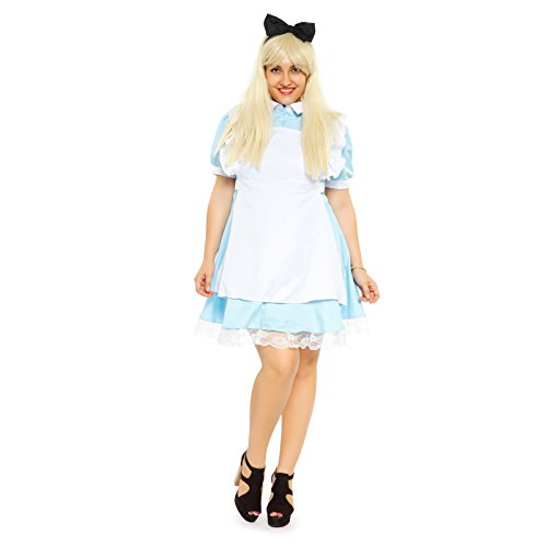 Karneval Fasching Kostuem Damenkostuem Alice in Wonderland Kostuem Fancy Dress Outfit Maid Cosplay Mottoparty (Für Fancy In Erwachsene Wonderland Kostüme Alice Dress)