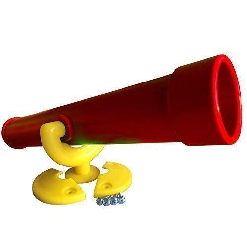 Teleskop Fernrohr für Spieltürme, (rot/gelb)