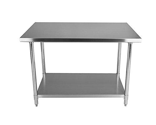 Tavolo da lavoro per cucina in acciaio INOX, parte superiore 2.5 ...