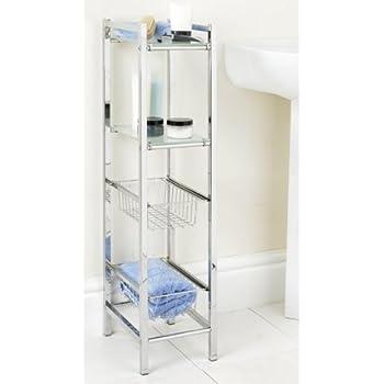 TEERFU 304 Stainless Steel Bathroom Kitchen Organizer,2 Tier Heavy ...