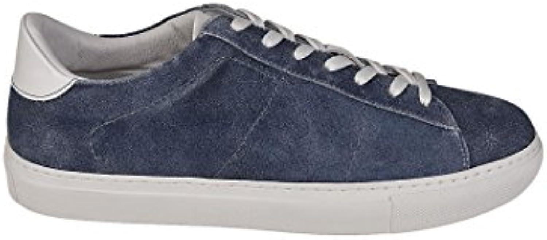 Dondup Herren XS058Y373US59DU888 Blau Leder Sneakers