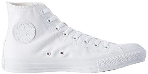 Converse Sneaker All Star Hi Canvas, Sneakers Unisex Adulto, Bianco (White), 39 EU