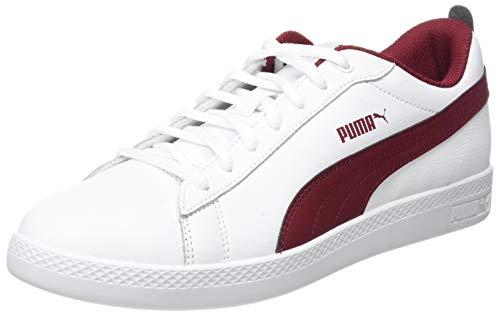 PUMA Smash Wns v2 L, Zapatillas Mujer, White-Rhubarb