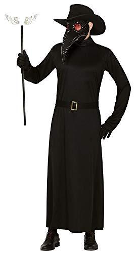 Doktor Kostüm Pest Venezianische - shoperama Venezianisches Herren-Kostüm Pest Doktor 4-TLG. Tunika Hut Maske Gürtel Schwarz Maskenball Commedia dell'arte Halloween