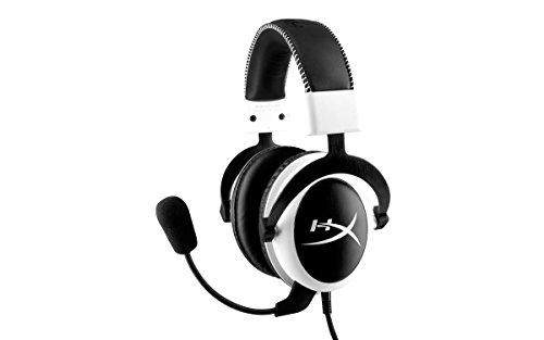 HyperX Cloud Gaming Headset für PC/PS4/Mac/Mobile, weiß (Zertifiziert und Generalüberholt)