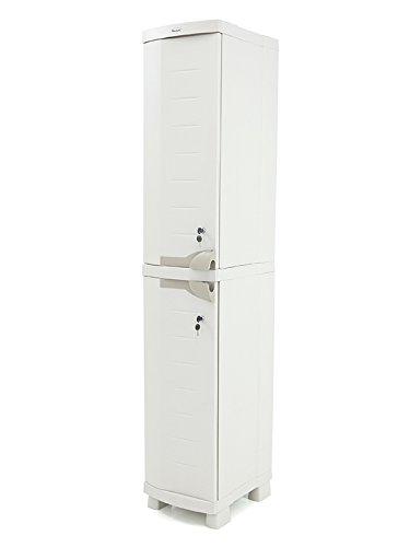 Plastiken Garderobenschrank mit zwei unabhängigen Puertes Space Saver Breite 35cm Farbe beige...