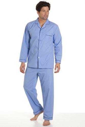 haigman-abbigliamento-da-notte-blu-cielo-da-uomo-manica-lunga-Set-Pigiama-Abito-con-pantaloni