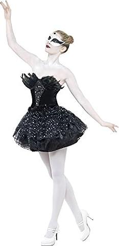 Karnevalskostüm Gothic-Schwan Schwarz mit Kleid, Small