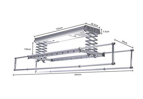 WARMHEAT Elektrischer Wäschetrockner Automatischer Hubständer des intelligenten elektrischen Waschmaschinenbalkons,3#