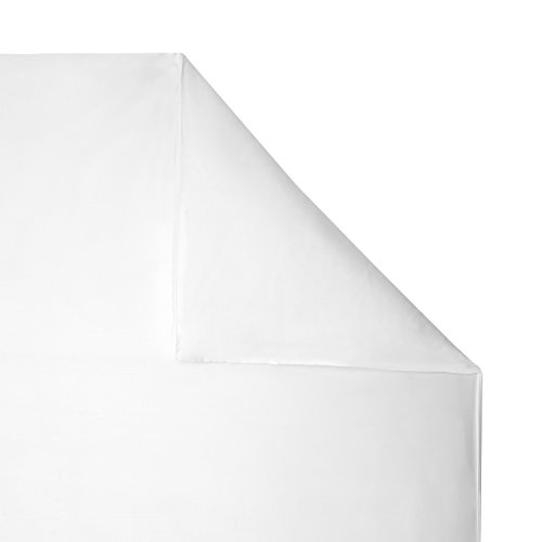 Funda de edredón de 100% Bamboo, ropa de cama de lujo, Pure White, matrimonio grande