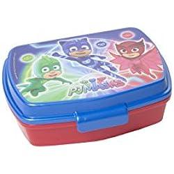 GIRM Porta merenda BBS Super Pigiamini PJ Masks. Portamerenda in plastica per la pappa dei bambini. Stoviglie per bambini in plastica lavabile in lavastoviglie