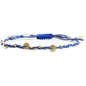 Verspieltes Armband,Dunkelblau/ Gold