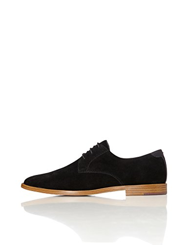FIND Men's Classic Derby Shoes, Black (Black), 9 UK