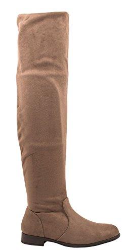 Elara, Stivali donna rosso Rot 36 cachi