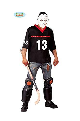 (Hockey-Spieler Halloween Kostüm für Herren Halloween Horror Killer Gr. M/L, Größe:L)
