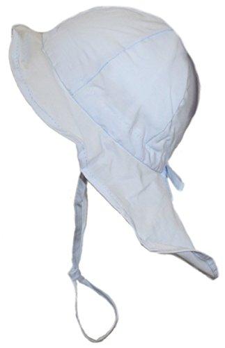Flapper Bonnet été pour Döll Bonnet pour enfant Bleu clair Bleu