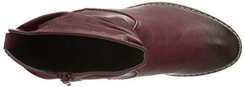 Rieker 92363-35, Stivali altezza metà polpaccio Donna Rosso (Rot (vino / 35))