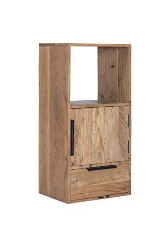 Woodkings Wandregal Auckland 1Tür/1Schub/1Fach, Hängeregal, passend zum TV Lowboard, Holzmöbel,...