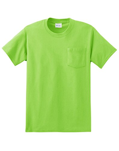 Port & Company Herren ist groß Essential Pocket T-Shirt, unisex, lime (Pocket T-shirt Heavyweight)
