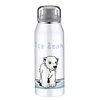 alfi 5677.115.035 Isolier-Trinkflasche isoBottle, Edelstahl Eisbär 0,35 l, 12 Stunden heiß, 24 Stunden kalt, Spülmaschinenfest, BPA-Free