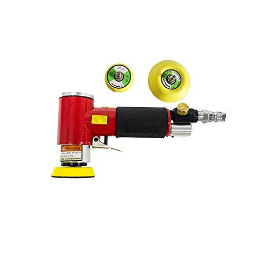 Dyna-Living Poliermaschine Mini Druckluft Orbitalschleifer Winkelschleifer Polierer Mini Rot...