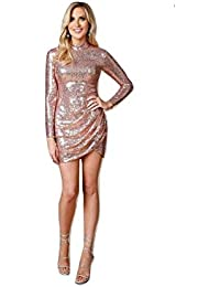 Goddiva Stephanie Pratt Open Back Sequin Mini Evening Party Dress 911f89528a626