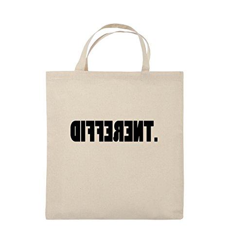 Comedy Bags - DIFFERENT - gespiegelt - Jutebeutel - kurze Henkel - 38x42cm - Farbe: Schwarz / Pink Natural / Schwarz