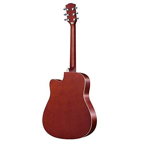 Loivrn Minimalistische Akustikgitarre Anfänger Musikinstrument Single Board Gitarre 40 Zoll 41 Zoll Hochwertige Holz Textur Student Selbstlernende Gitarre Mit Gitarrenkoffer Gurt String (String Gitarren-gurt Mit)