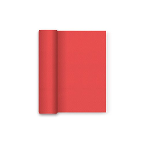 Mantel Navidad papel film Impermeable - Rojo - 1,2