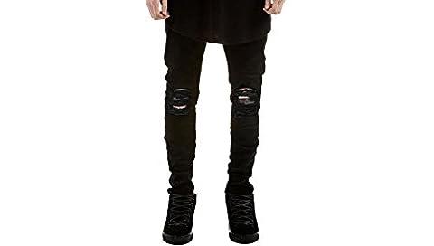 Feicuan Herren Slim Ripped Jeans Skinny Distressed Destroyed Denim