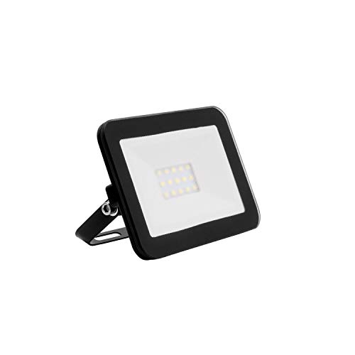 Foco Proyector LED Slim Cristal 10W Negro Blanco Frío 6000K-6500K efectoLED