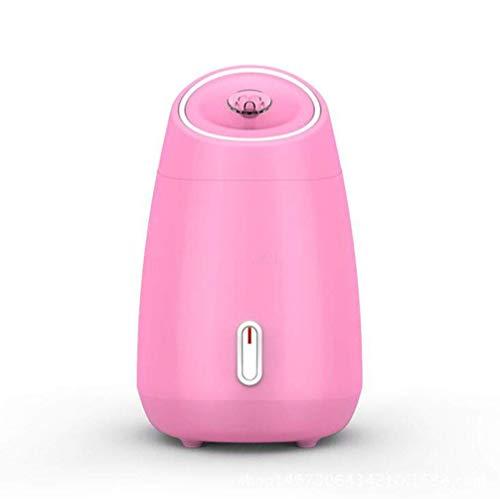 Gesichts-Dampfer Tragbarer feuchtigkeitsspendender Dampfer Hot Spray-Haushalts-Schönheits-Ausrüstung Nano-Spray-Wasserzähler Gesichtsaufheller-Feuchtigkeits-Leichtgewichtler, weiß ( Farbe : Rosa )
