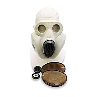 OldShop Gas Mask Pbf (eo-19) Set - Soviet Russian Military Gasmask REPLICA Collectable Item Set W/Mask, Bag & Filter - Authentic Look Several, Color: Gray | Size: L (3Y)