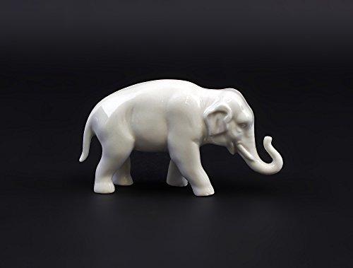Porzellanfigur Elefant (weiß, klein)