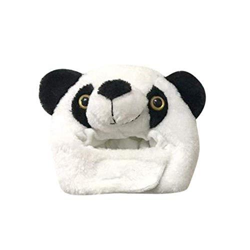 alloween Kostüm Samt Hut, Haustier Hut dekorative lustige Hut Hündchen Party Hut Tierform Design Cosplay geeignet für kleine Katzen oder Hunde auf jeden Fall abheben (Riesenpanda) ()
