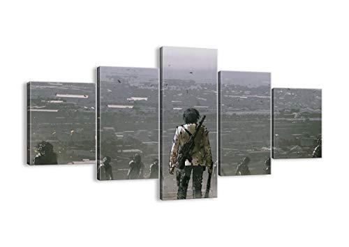 Bild auf Leinwand - Leinwandbilder - fünf Teile - Breite: 125cm, Höhe: 70cm - Bildnummer 4101 - fünfteilig - mehrteilig - zum Aufhängen bereit - Bilder - Kunstdruck - EA125x70-4101