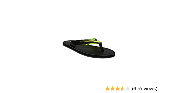 edf44288636640 Nike Men s Chroma Thong 5 Black Volt Flip Flops (833808-013) (Uk-10  (Us-11))  Buy Online at Low Prices in India - Amazon.in