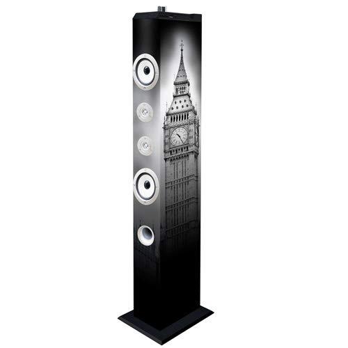 Majestic TS 85R BT USB SD AX Lautsprecher mit Bluetooth, USB/SD/AUX-IN, Fernbedienung, London Tower und Bus Double Decker -