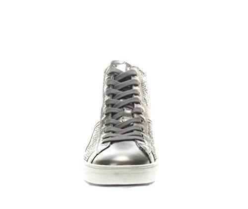 Nero Giardini Donna Sneaker A719500D-101 Sneaker Alta con Strass Antracite