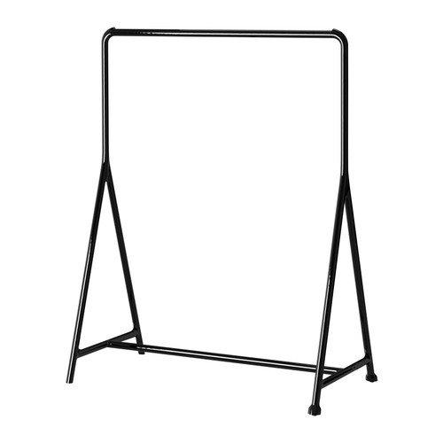 IKEA TURBO, Kleiderständer, Schwarz, 117 x 59 cm