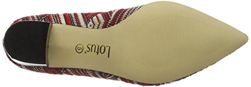 Lotus Cascades, Chaussures À Talons Rouges Pour Femmes (rouge Multi)