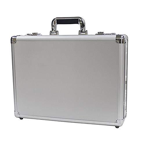 XHHWZB Swiss Aluminium Aktenkoffer Gepolstert Laptop Aktenkoffer Combo Lock Hartschalenkoffer Portable Equiment Werkzeugkoffer Silber -
