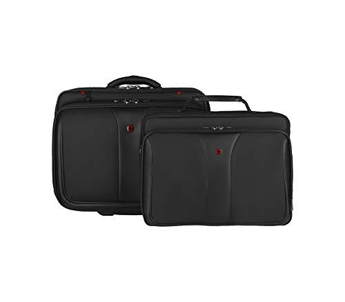"""Wenger 600662 PATRIOT 17\"""" 2-Stück Aktuelle Laptop-Aktentasche, Gepolstertes Laptopfach mit passendem 15.4\"""" Laptoptasche in Schwarz {25 Litres}"""