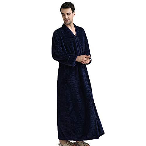 JUNMAONO Albornoz Grueso de Invierno Otoño Bata de Baño Kimono Unisex para Hombre Mujer Ropa de Dormir Pijama para Hotel Casa Piscina Sleepwear Vestido Pijamas Terciopelo Albornoz Sexy Cremallera