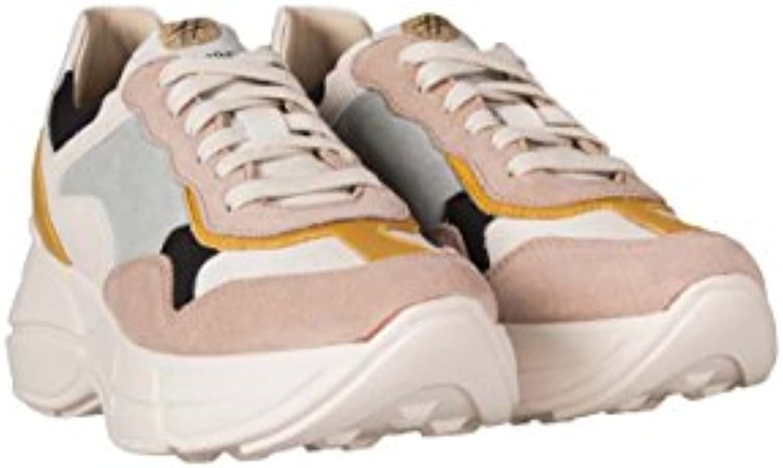 LEMARE' Zapatillas de Piel Para Mujer Blanco Pinky