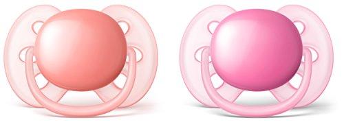 Preisvergleich Produktbild Philips Avent SCF213/22 Ultra soft Schnuller, pink/orange, 2er Pack