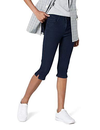 VERO MODA Damen VMHOT Seven NW DNM Slit Knicker Mix NOOS Hose, Blau Dark Blue Denim, 36 (Herstellergröße: S) -
