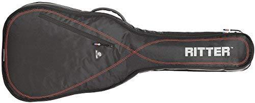 Ritter RGP2-CT 3/4 CLAS - Funda/estuche para guitarra acustica-clasica, con tejido repelente al agua, color negro